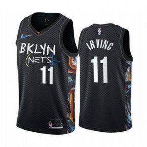 Men's Brooklyn Nets Kyrie Irving City Jerse